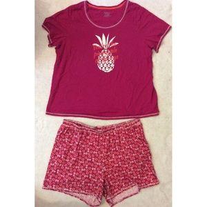 Catherine Shorts Shirt & Summer Pajama Set Size 1X